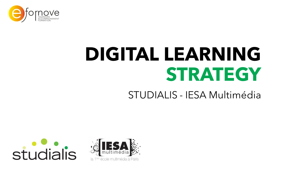 Digital learning strategy-IESA Multimédia