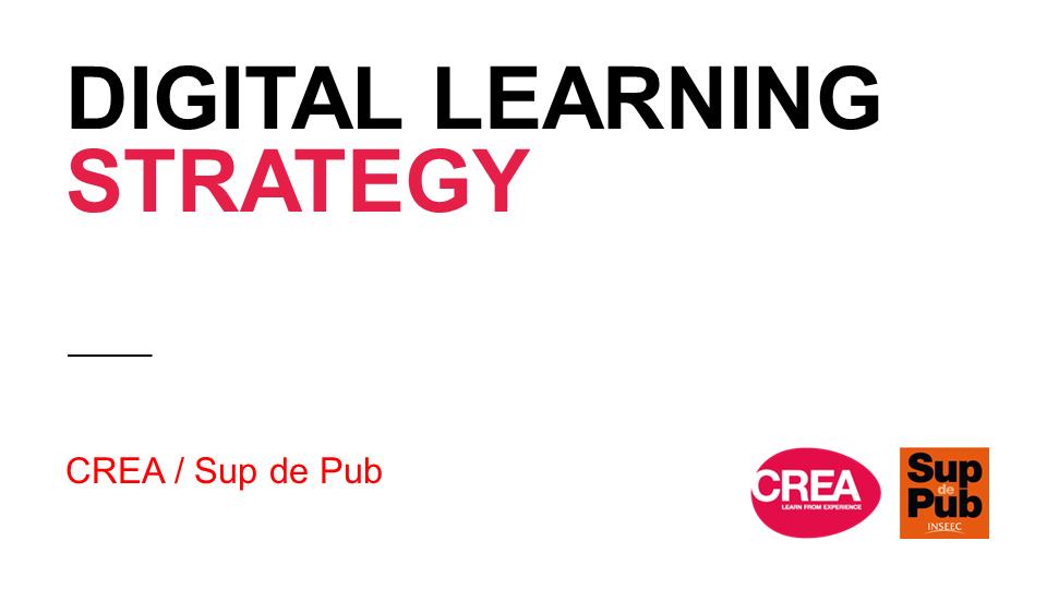 Digital learning strategy